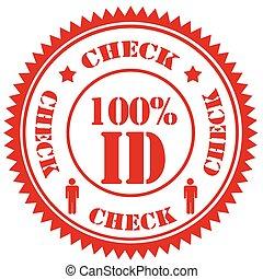 100%, kontrollieren, ausweis