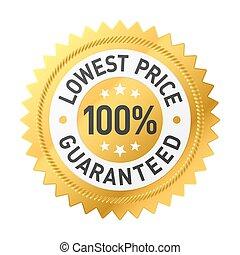 100% lowest price guaranteed sticke