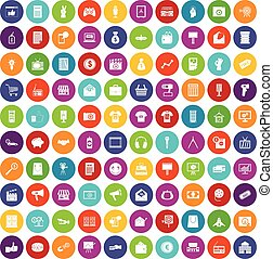 100 marketing icons set color - 100 marketing icons set in...