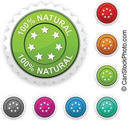 100% Natural  award.