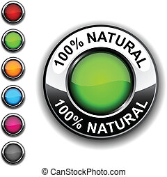 100% Natural  button.