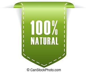 100, natural, etiqueta