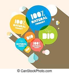 100% Natural Product - Bio Vector Illustration