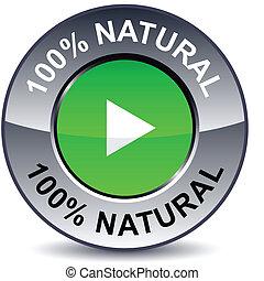 100% Natural round button.
