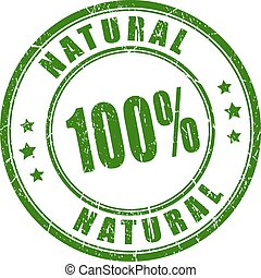 100 natural rubber stamp