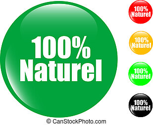 100% natural set of colored button