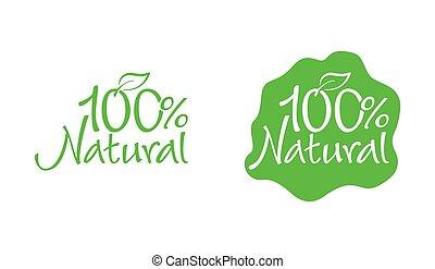 100 natural stamp, GMO free - marking
