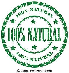 100% Natural-stamp