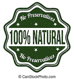 100% natural stamp - 100% natural grunge rubber stamp on...