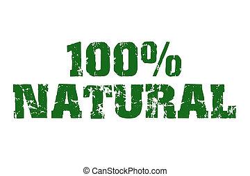100% Natural text