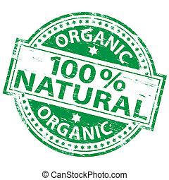 100%, naturale, francobollo