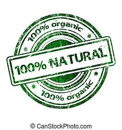 100%, naturel, organique