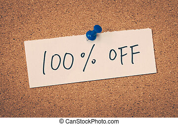 100 one hundred percent off