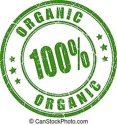100 organic rubber stamp