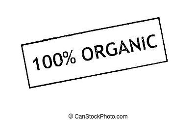 100 Organic Rubber stamp print - 100 Organic Rubber stamp...