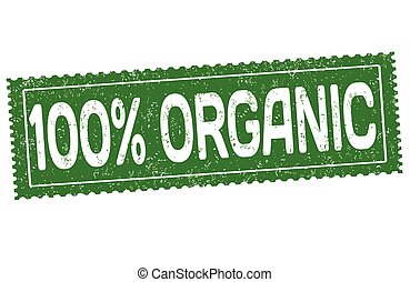 100% organic sign or stamp