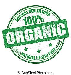 100%, organico, francobollo