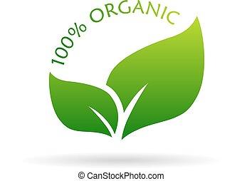 100, organico, icona