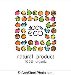 100%, organisch, logo