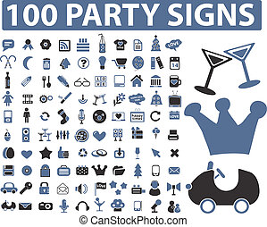 100 party signs