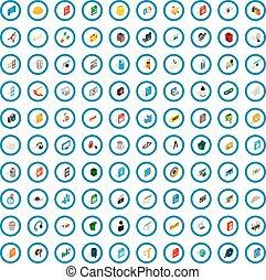 100 pc icons set, isometric 3d style