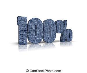 100 %  / Percent 3d word