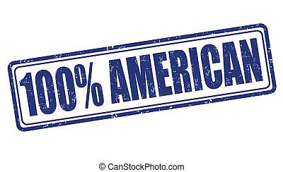 100 percent american stamp