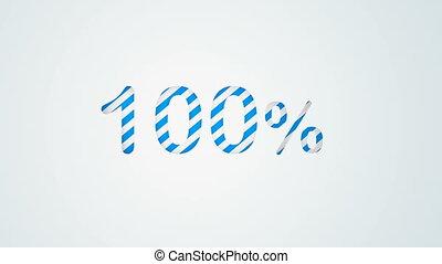 Colour stripes 100 percent numerical background animation