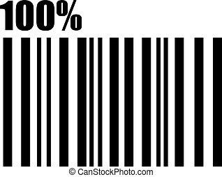 100 percent barcode