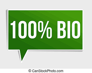 100 percent bio green speech bubble