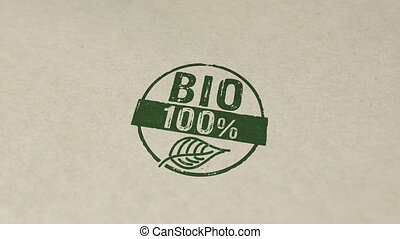 100 percent bio stamp and stamping animation - 100 percent ...