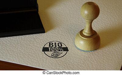 100 percent bio stamp and stamping
