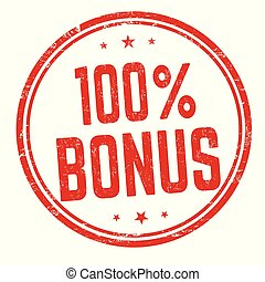 100 percent bonus sign or stamp