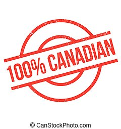 100 percent canadian rubber stamp