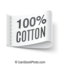 100 Percent Cotton Clothing Label