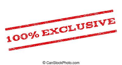 100 Percent Exclusive Watermark Stamp