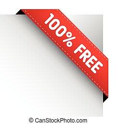 100 percent free corner ribbon