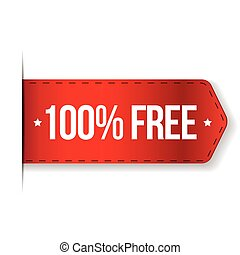 100 percent free red ribbon