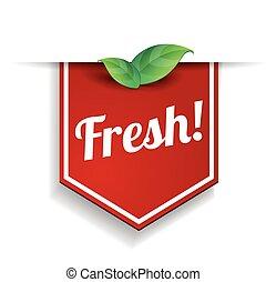 100 percent fresh - nature with green leaf