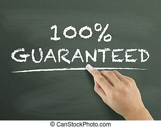 100 percent guaranteed words written by hand