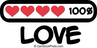 100 percent love Loading bar