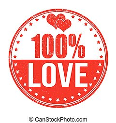 100 percent love stamp
