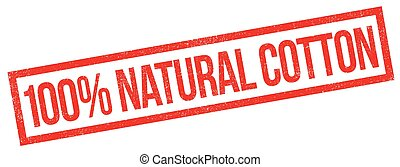 100 percent natural cotton rubber stamp