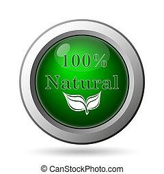 100 percent natural icon