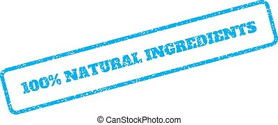 100 Percent Natural Ingredients Rubber Stamp