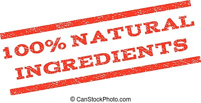 100 Percent Natural Ingredients Watermark Stamp