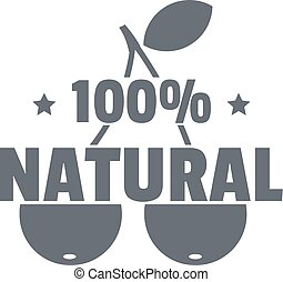 100 percent natural logo, simple style