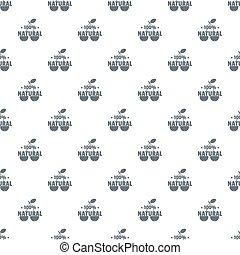 100 percent natural pattern seamless