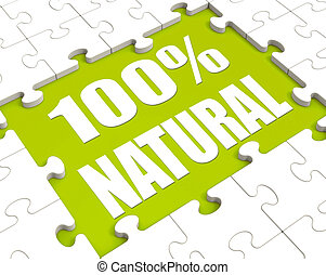 100 Percent Natural Puzzle Shows 100% Healthy Pure Food
