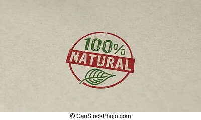 100 percent natural stamp and stamping animation